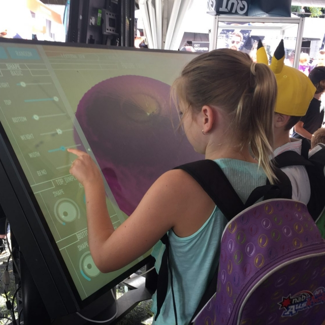 Children using Future Fruit at the World Science Festival
