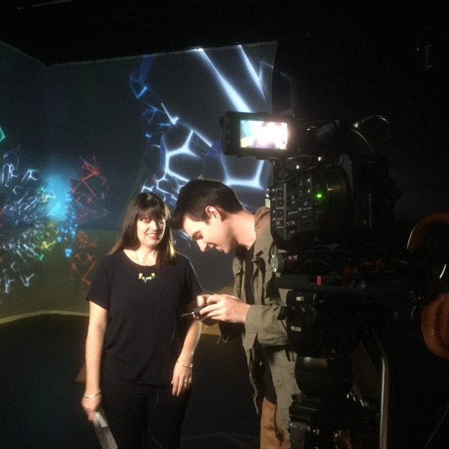 Filming Colliding Dimensions with Deb Polson and Tony Walsh